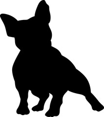 French bulldog vector silhouette