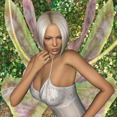 3D Rendering Fairy Butterfly