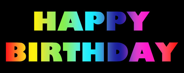 Word Happy Birthday colorful letters