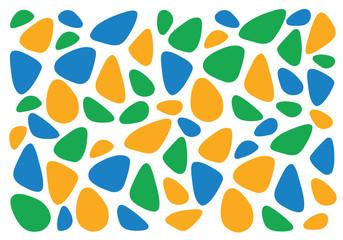 Summer 2016. Background Flat Vector Illustration. Blue, Orange, Green Colors.