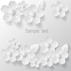 Paper flower background. Vector stock.