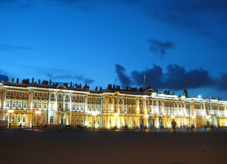 White Nights in St Petersburg. State Hermitage Museum