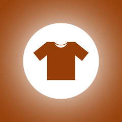 Tshirt icon, vector illustration.