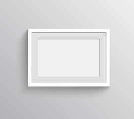 Picture frame vector for painting show.