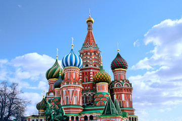 Moscow  St. Basil's Cathedral kremlin  church