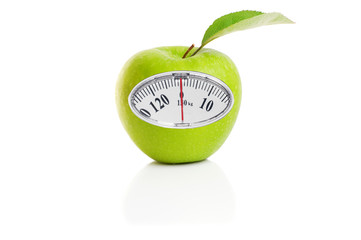 Apples and weights sign