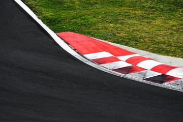 Foto op Aluminium F1 Race track curve road for car racing