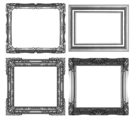 Picture Frames Silver black