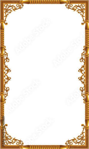 Vintage frame retro decoration corner template design.Gold photo ...