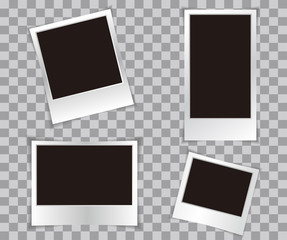 Photo frame retro Illustration. Photo frame isolated on a background. Photo frame mock up. Photo frame border. Photo frame on plaid background. Photo frame retro. Photo frame