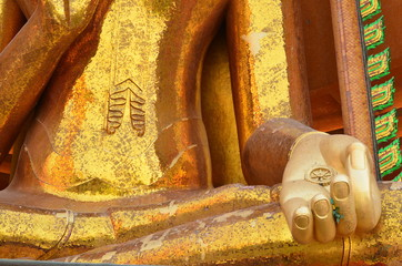 Giant Golden Buddha Statue in Thailand