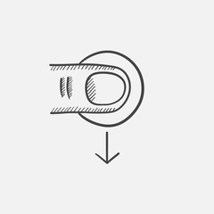Touch screen gesture sketch icon.