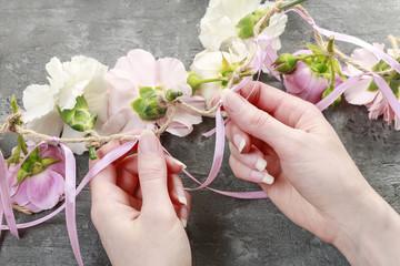 how to make a flower garland for wedding or other celebrations.