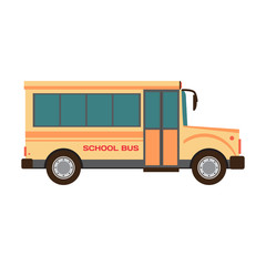 School bus vector illustration flat cartoon
