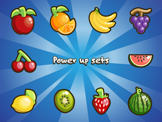 The power up item sets.
