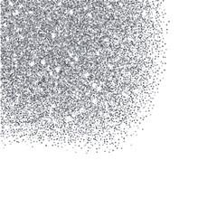 Silver glitter textured border
