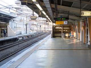 Train station in morning