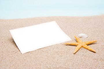 Fotoabzug im Sand