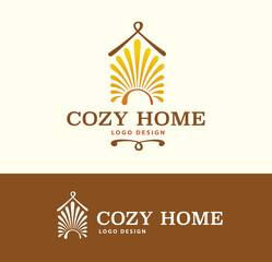 Logo Cozy Home on light and dark color