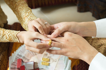 engagement and wedding is happiness celebration for show that groom and bride wanna live together