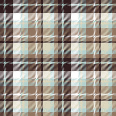 Brown blue seamless check fabric texture