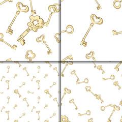 Seamless keys pattern set