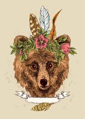 sketching of bear