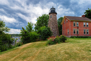 Charlotte Genesee Lighthouse, Lake Ontario in Rochester, New York, USA