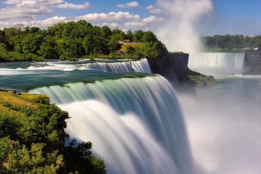 Niagara Falls, NY, USA. Long exposure