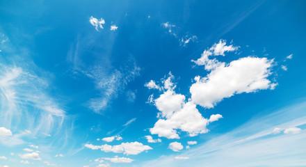 soft clouds in a summer sky