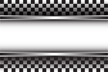 Checkered pattern and white space design for race sport background vector illustration.