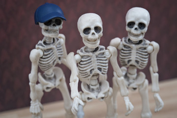 Wefie, Three skeleton taking portrait of themself