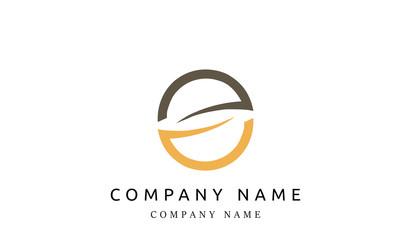 Flat concept vector design logo for business