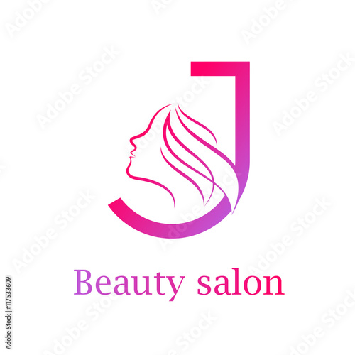 Abstract letter j logo beauty salon logo design template for Abstract beauty salon