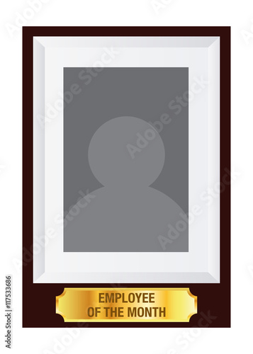 employee of the month photo frame template stock image and royalty