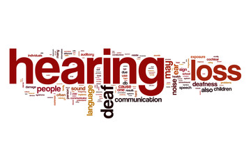 Hearing loss word cloud concept