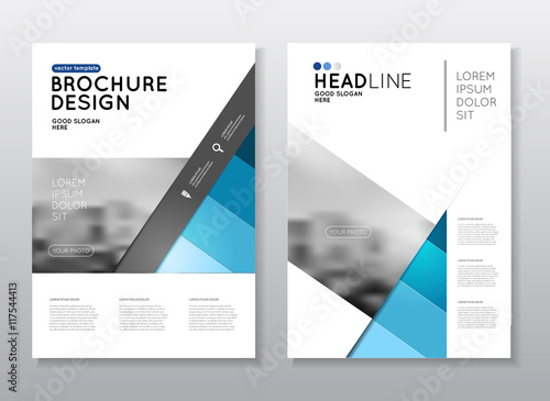 Annual report vector illustration brochure with text a4 for Design consultancy company profile