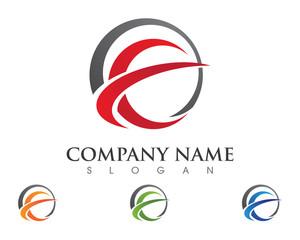 E, C, EC Letter Logo Template