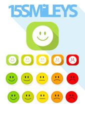 15 Smileys