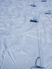Gondola shadow in the snow