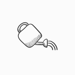 Watering can sketch icon.