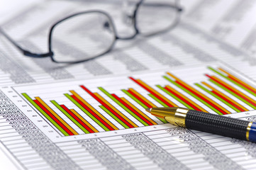 finance with chart of stock market