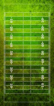 Aerial View of American Football Field