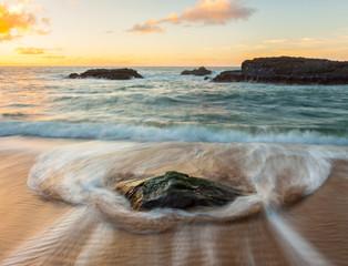 Coast at sunset, Kauai Island, Hawaii, United States of America