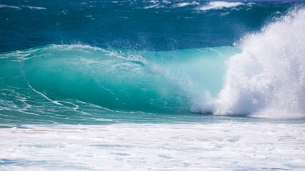 Surf wave, Kauai Island, Hawaii, United States of America