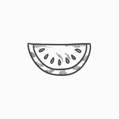 Melon sketch icon.