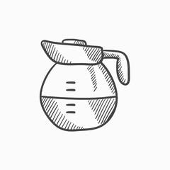 Carafe sketch icon.