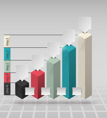 columns of data for the presentation of data / vector infographics