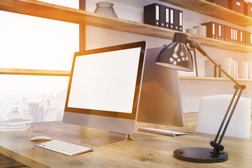 Computer desk in office