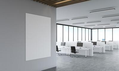 Call center room interior